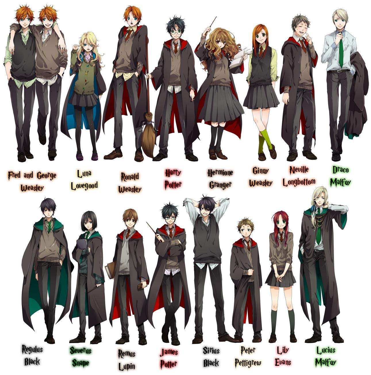 Harry Potter Versi  N Anime