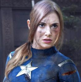 Alison Brie as Captain America