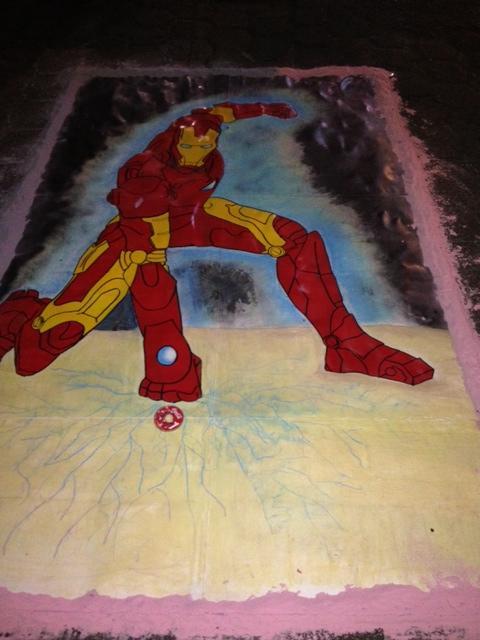 alfombra iron man