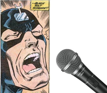 black bolt scream mic